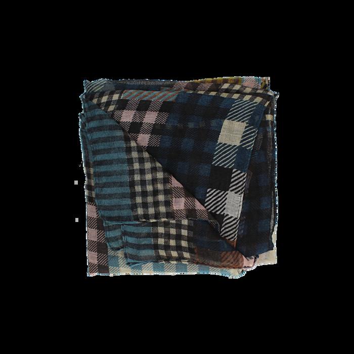 Pashmina marrone in tessuto stampa patchwork, Abbigliamento, 14B404027TSMARRUNI