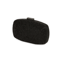 Clutch bijou noir en microfibre, IDEE REGALO, 165109596MPNEROUNI, 002 preview