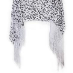Poncho leopard in tessuto laminato, Abbigliamento, 13B445077TSLEOPUNI, 002a