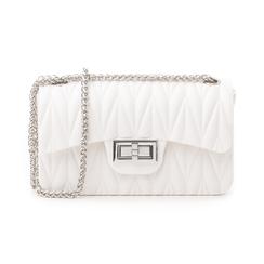 Mini-bag bianca in pvc, Primadonna, 137409999PVBIANUNI, 001 preview