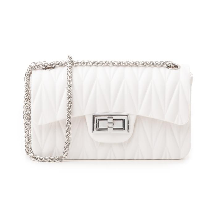 Mini-bag bianca in pvc, Primadonna, 137409999PVBIANUNI