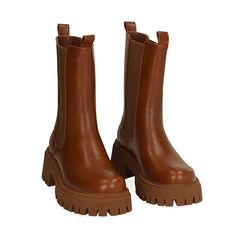 Chelsea boots cognac, talon 5,5 cm , Primadonna, 180614805EPCOGN035, 002a