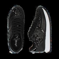 Zapatillas color negro con lentejuelas , Primadonna, 162619079PLNERO035, 003 preview
