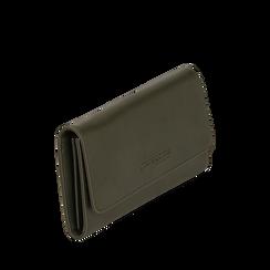 Portafogli verde in eco-pelle, Borse, 143732330EPVERDUNI, 002a