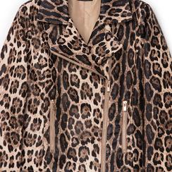 Biker jacket leopard in eco-pelle, Primadonna, 136501161EPLEOPL, 002a