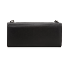 Pochette nera in eco-pelle con maxi-catena, Borse, 133322173EPNEROUNI, 003 preview