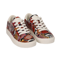 Sneakers nero/rosse stampa pitone, Scarpe, 152607101PTNERS, 002 preview