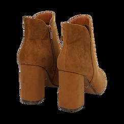 Ankle boots cuoio in microfibra, tacco 9 cm , Primadonna, 162709165MFCUOI035, 004 preview