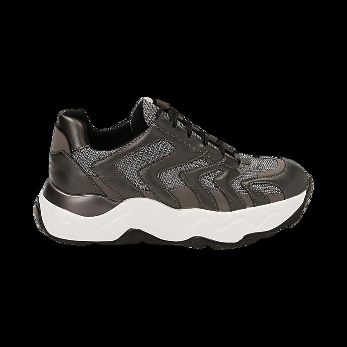 Dad shoes canna di fucile glitter, suola 5 cm , Scarpe, 142898804GLCANN035