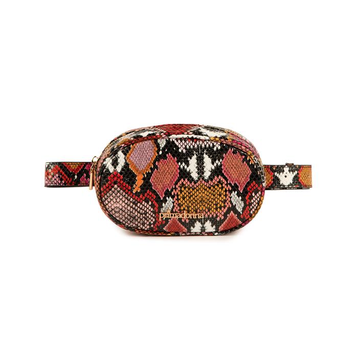 Marsupio nero/rosso stampa pitone, Borse, 155100843PTNERSUNI