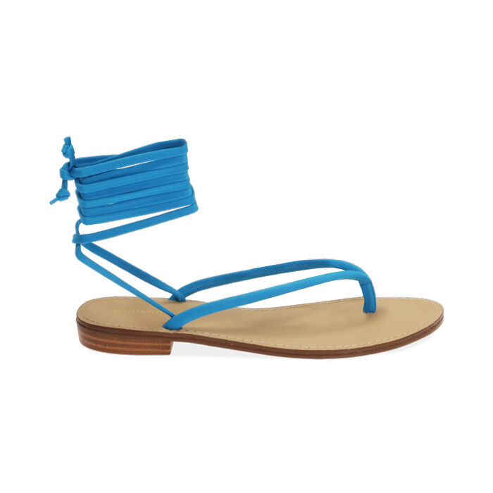 Sandales à lacets en lycra turquoise, Primadonna, 174982380LYTURC035