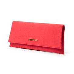 Pochette piatta rossa in microfibra, Borse, 145122509MFROSSUNI, 004 preview