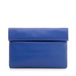 Bustina blu in eco-pelle, ripiegata su sè stessa, Borse, 113308590EPBLCOUNI, 001a