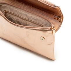 Bustina rosa in eco-pelle, effetto metallizzato , Borse, 113308136LMROSAUNI, 004 preview