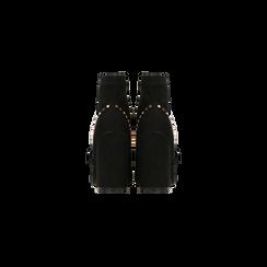 Tronchetti neri maxi-fibbia, tacco 10,5 cm, Scarpe, 122168092MFNERO, 003 preview