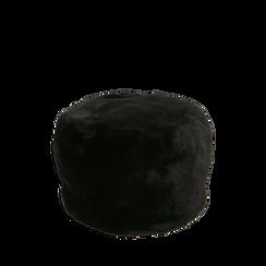 Colbacco nero in eco-fur, 14B443018FUNEROUNI, 001a