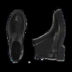 Chelsea boots en cuir noir, Promozioni, 167723704PENERO036, 003 preview