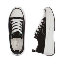 Sneakers chunky nere in canvas, Primadonna, 17K910193CANERO035, 003 preview