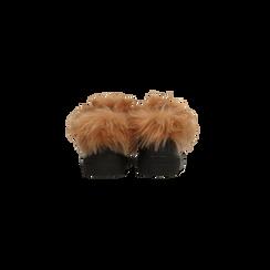 Sneakers nere con ricami animalier e dettagli in faux-fur, Scarpe, 126102020EPNERO036, 003 preview
