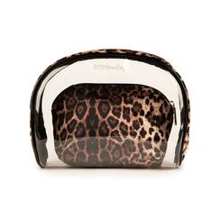 Trousse leopard print in pvc, Primadonna, 155122760PVLEOPUNI, 003 preview