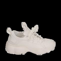Dad shoes en eco-piel color blanco, Zapatos, 15K319391EPBIAN036, 001a