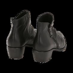 Camperos neri in pelle di vitello, Scarpe, 14A919008VINERO035, 004 preview