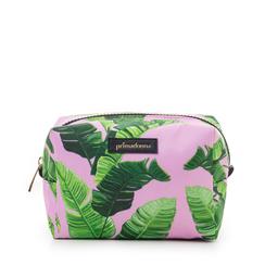 Trousse verde in raso con stampa jungle, Saldi Estivi, 115910274RSVERDUNI, 001a