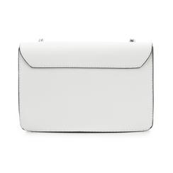 Tracollina bianca in eco-pelle con chiusura tripla, Borse, 132300507EPBIANUNI, 003 preview