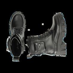 Botas militares en color negro, Primadonna, 160611112EPNERO035, 003 preview