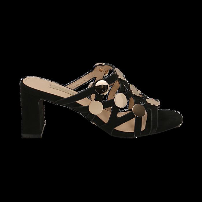 WOMEN SHOES SLIPPER MICROFIBER NERO, Zapatos, 154821212MFNERO036