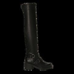 Stivali sopra il ginocchio, tacco 4 cm, Primadonna, 120618172EPNERO, 001 preview