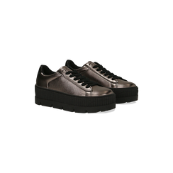 Sneakers canna di fucile con suola extra platform zigrinata, Primadonna, 122618776EPCANN035, 002