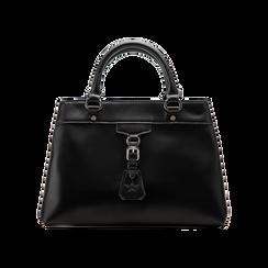 Mini-bag nera in ecopelle, Primadonna, 121818007EPNEROUNI, 001 preview