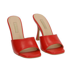 Mules rosse, tacco 9,5 cm , Primadonna, 174823921EPROSS035, 002 preview