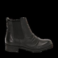 Chelsea boots neri in pelle di vitello , Stivaletti, 14A919642VINERO035, 001a