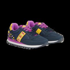 Sneakers blu color block, Primadonna, 122618834MFBLUE035, 002