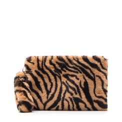 Pochette tigrata in eco-fur, Borse, 14B443016FUTIGRUNI, 001a