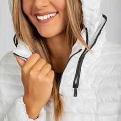 Piumino bianco Donna in Tessuto Tecnico, Abbigliamento, 128500501TSBIAN, 005 preview
