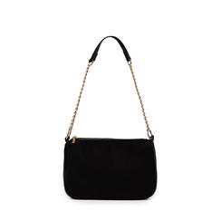 Petit sac porté épaule noir en microfibre, Primadonna, 155127201MFNEROUNI, 001a
