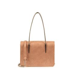 Mini bag nude stampa pitone, Borse, 155122812PTNUDEUNI, 001a