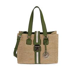 Bolso verde de rafia, Primadonna, 172320079RFVERDUNI, 001a