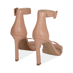 Sandali nude in vernice, tacco 10,50 cm , OUTLET, 151755083VENUDE037, 004 preview