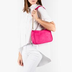 Petit sac porté épaule fushia en microfibre, Primadonna, 155127201MFFUCSUNI, 002a