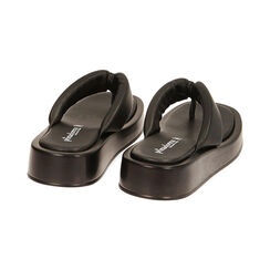 Sandali neri, zeppa 4 cm , Primadonna, 17A134336EPNERO035, 004 preview