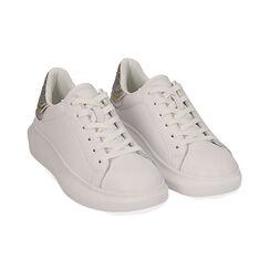 Baskets blanc / argent, Chaussures, 172602011EPBIAR035, 002 preview