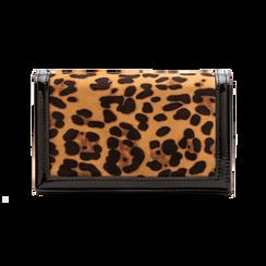 Pochette leopard in microfibra scamosciata con tracolla, Borse, 123308936MFLEOPUNI, 001 preview
