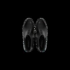 Chelsea Boots neri in vera pelle, tacco medio 6 cm, Primadonna, 127711422PENERO, 004 preview