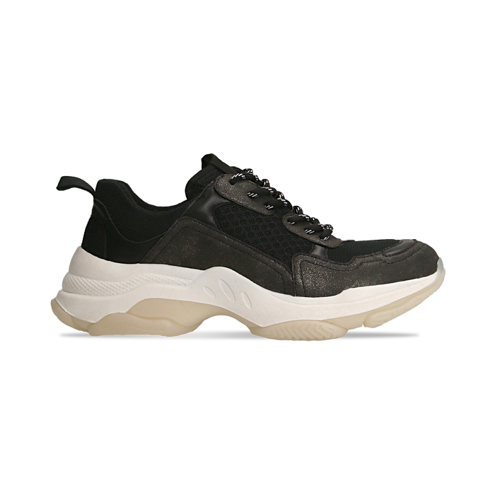 Sneakers nere dad shoes, Scarpe, 124180229TSNERO036