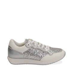 Sneakers argento in glitter, Sneakers, 152669937GLARGE035, 001a