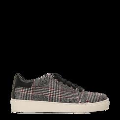 Sneakers Tweed con tacco basso, Primadonna, 122915602TSNEGR035, 001a